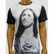 Camiseta Puríssimo Coração de Jesus Mono Preto