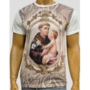 Camiseta Santo Antônio Mandala Marfim