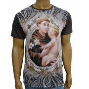 Camiseta Santo Antônio Mandala Marrom