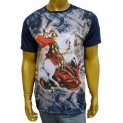 Camiseta São Jorge Azul Novo