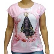 Jap. de Bali Nossa Senhora Aparecida Floral Rosa