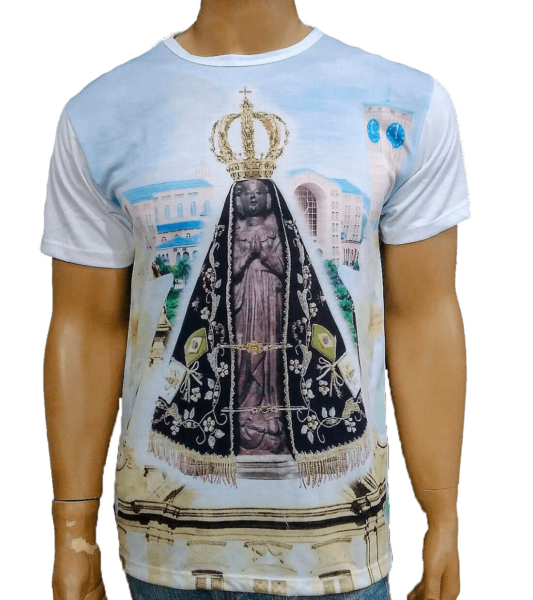 Camiseta Aparecida Basilica Céu Azul