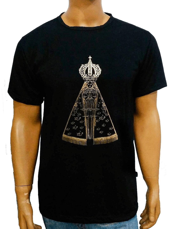 Camiseta Aparecida Dourada Preta