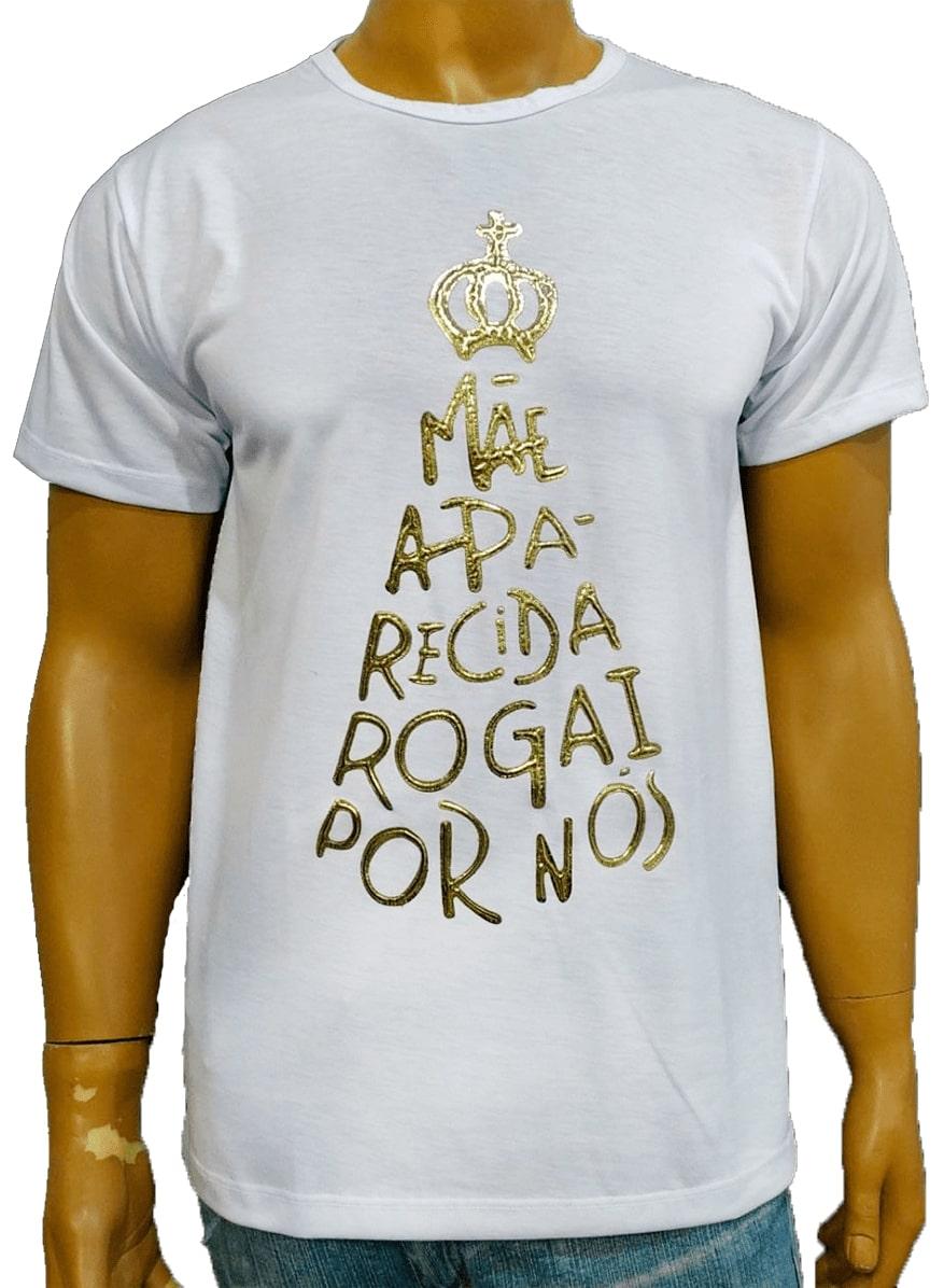 Camiseta Aparecida Rogai Por Nós Branca