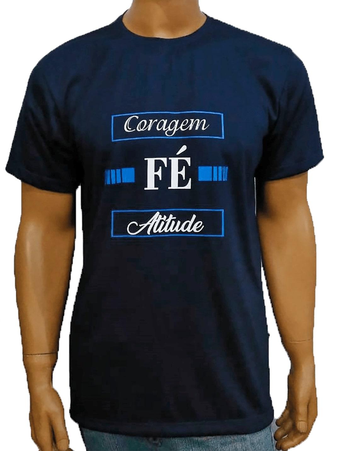 Camiseta Coragem Fé Atitude