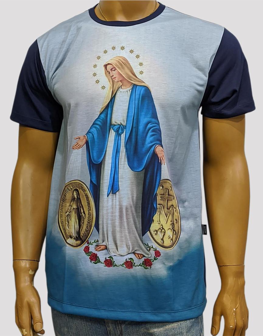 Camiseta Graça Medalha Azul Nova