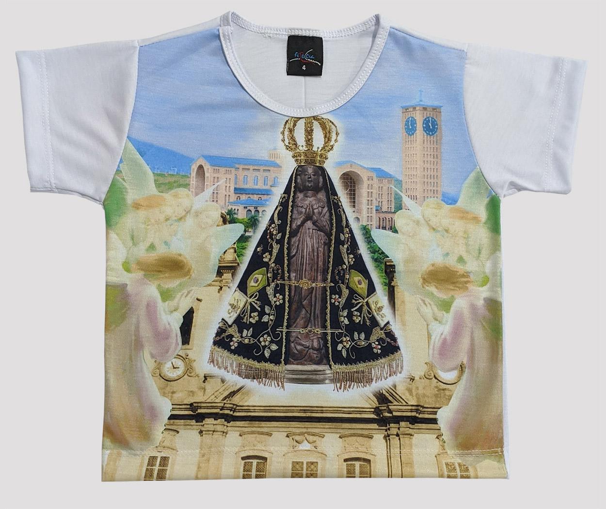 Camiseta Infantil Nossa Senhora Aparecida Céu Azul