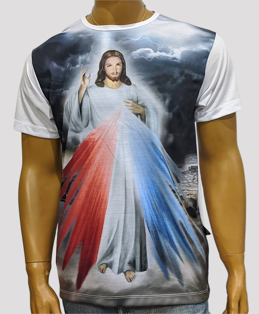 Camiseta Jesus Misericordioso Antigo