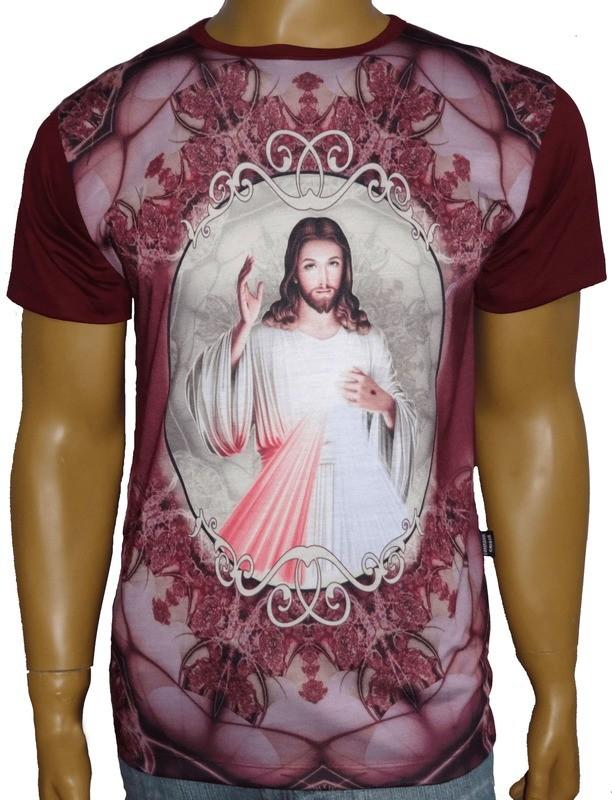 Camiseta Jesus Misericordioso Moldura