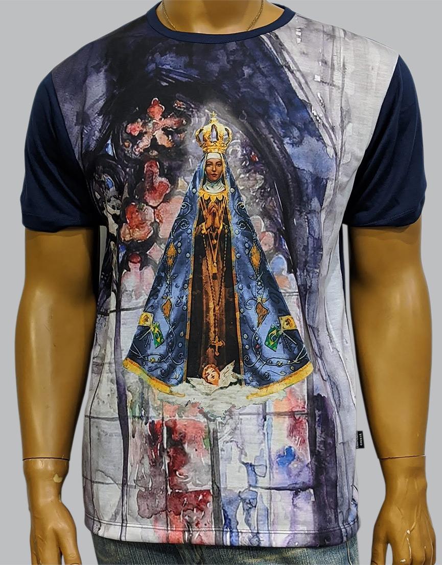 Camiseta Nossa Senhora Aparecida Aquarela