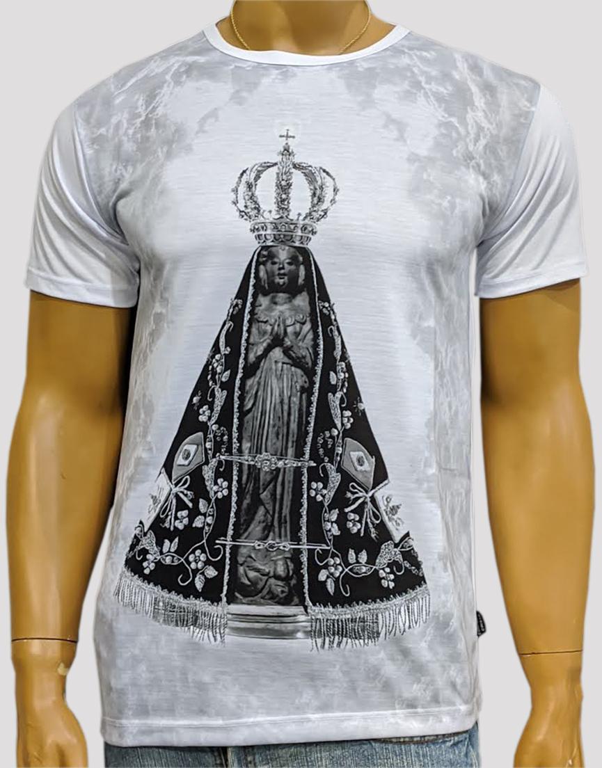 Camiseta Nossa Senhora Aparecida Mono Branca