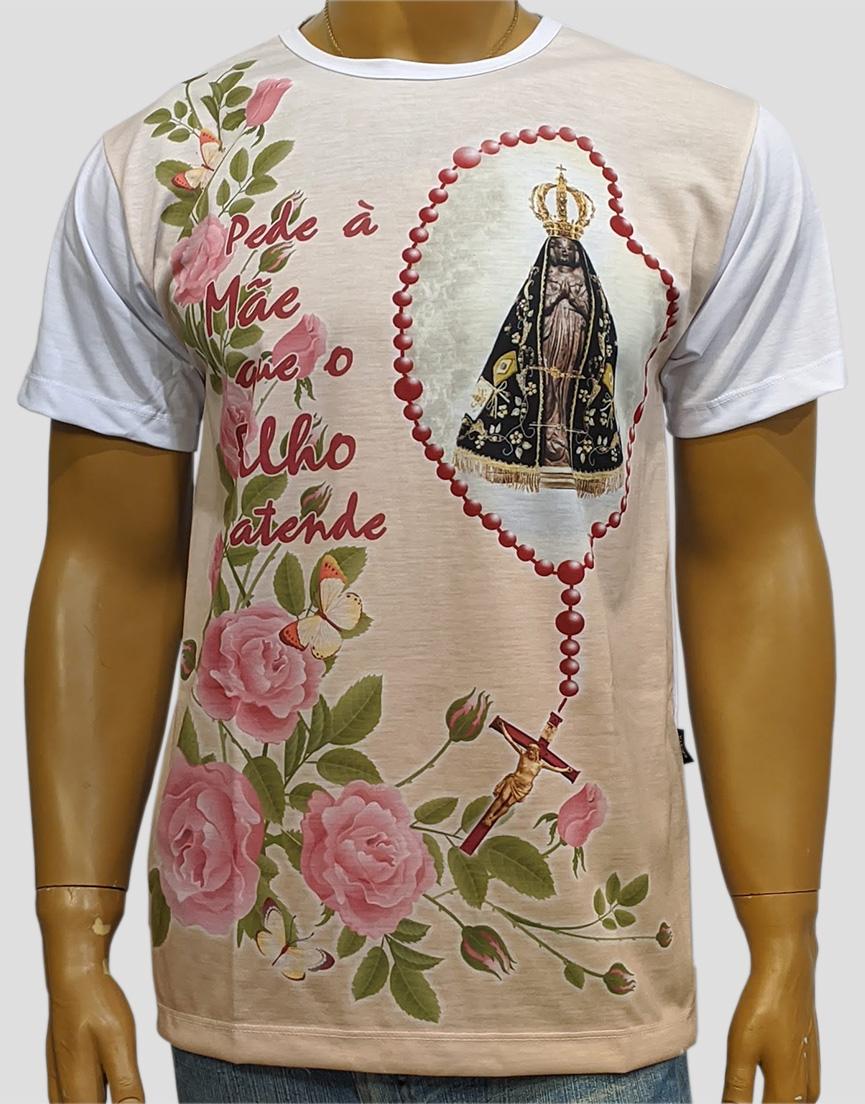 Camiseta Nossa Senhora Aparecida Terço