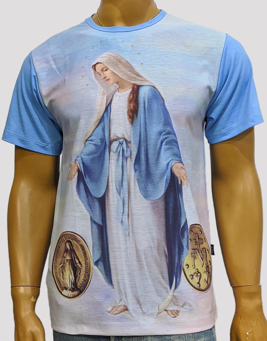 Camiseta Nossa Senhora das Graças Medalha Antiga