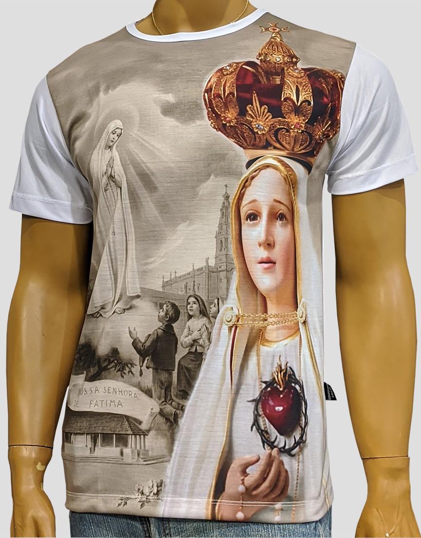 Camiseta Nossa Senhora de Fatima Coroa