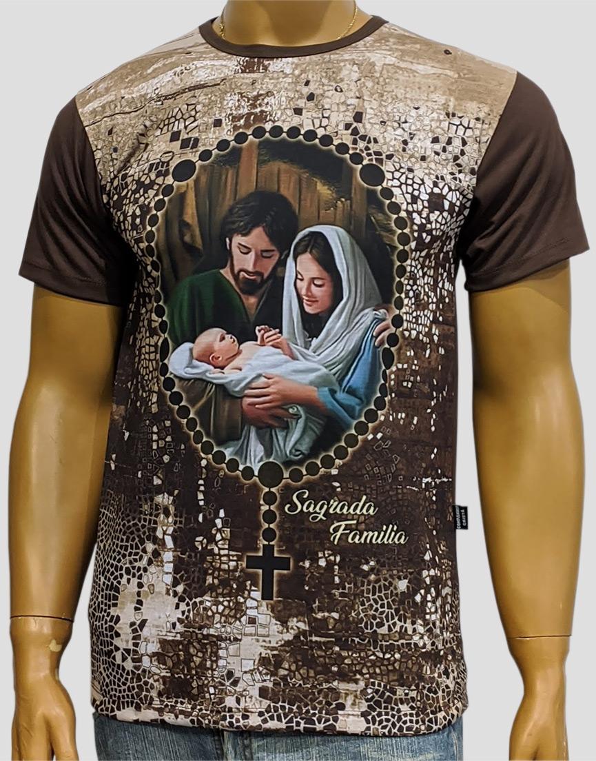 Camiseta Sagrada Familía Nova Marrom