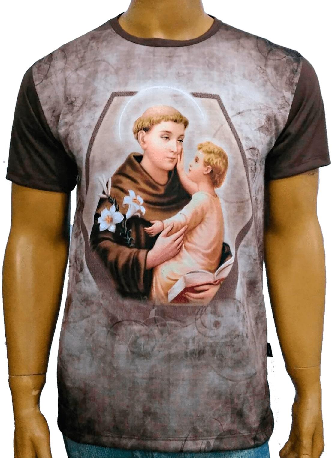 Camiseta Santo Antônio Moldura