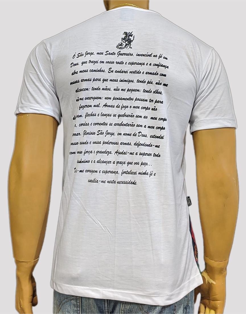 Camiseta São Jorge Color Antigo Branco