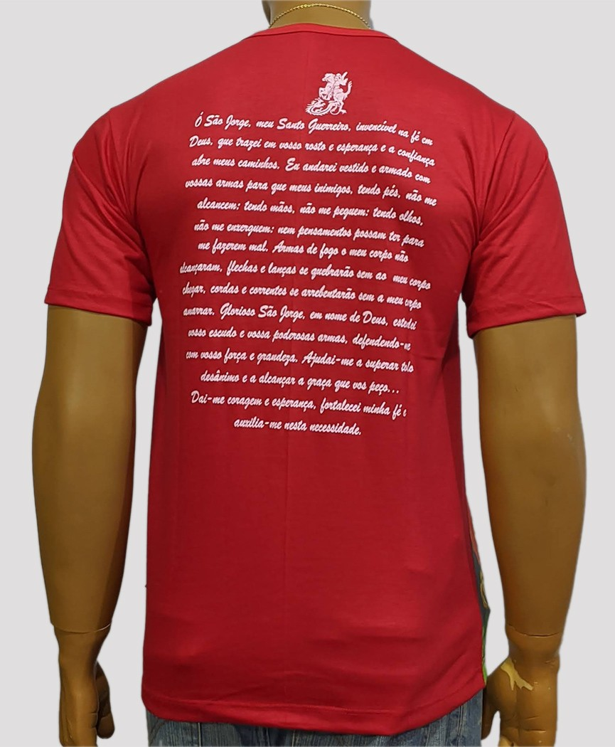 Camiseta São Jorge Color Antigo Vermelho