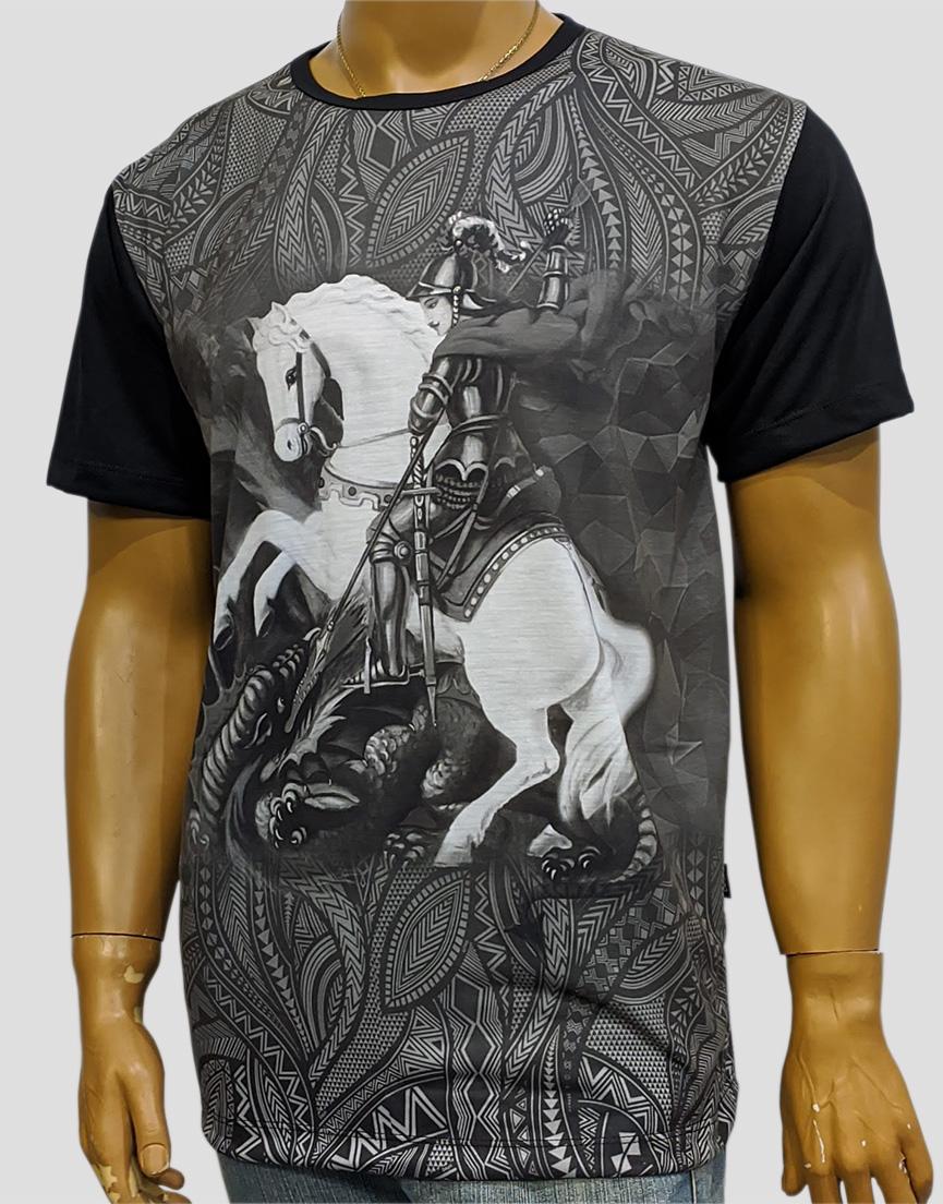 Camiseta São Jorge Color Novo Preto