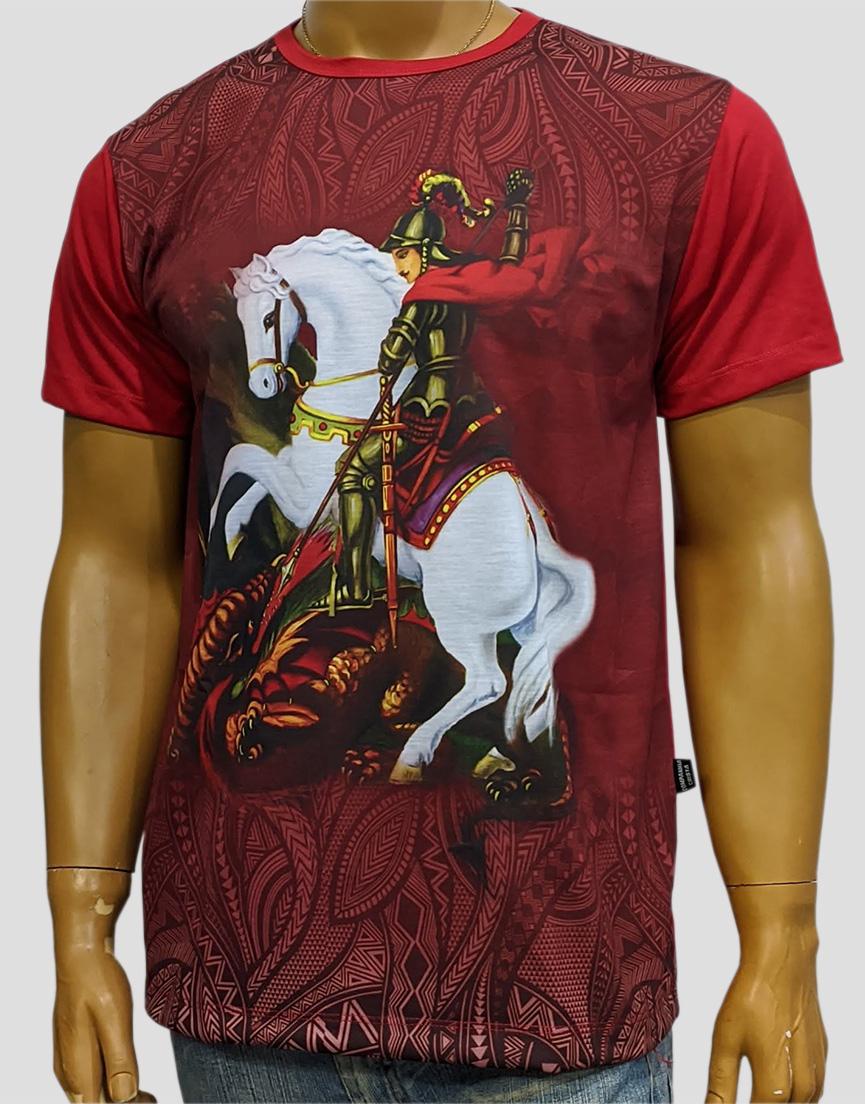 Camiseta São Jorge Color Novo Vermelho