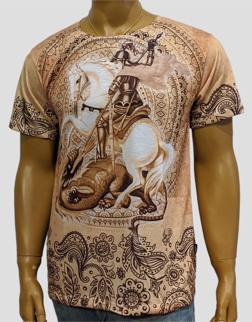 Camiseta São Jorge Indiano Laranja