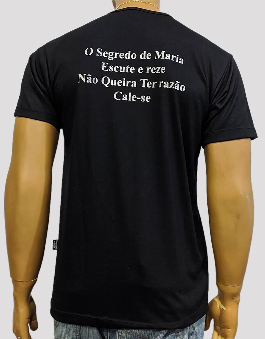 Camiseta Virgem do Silênico Preta Bordada