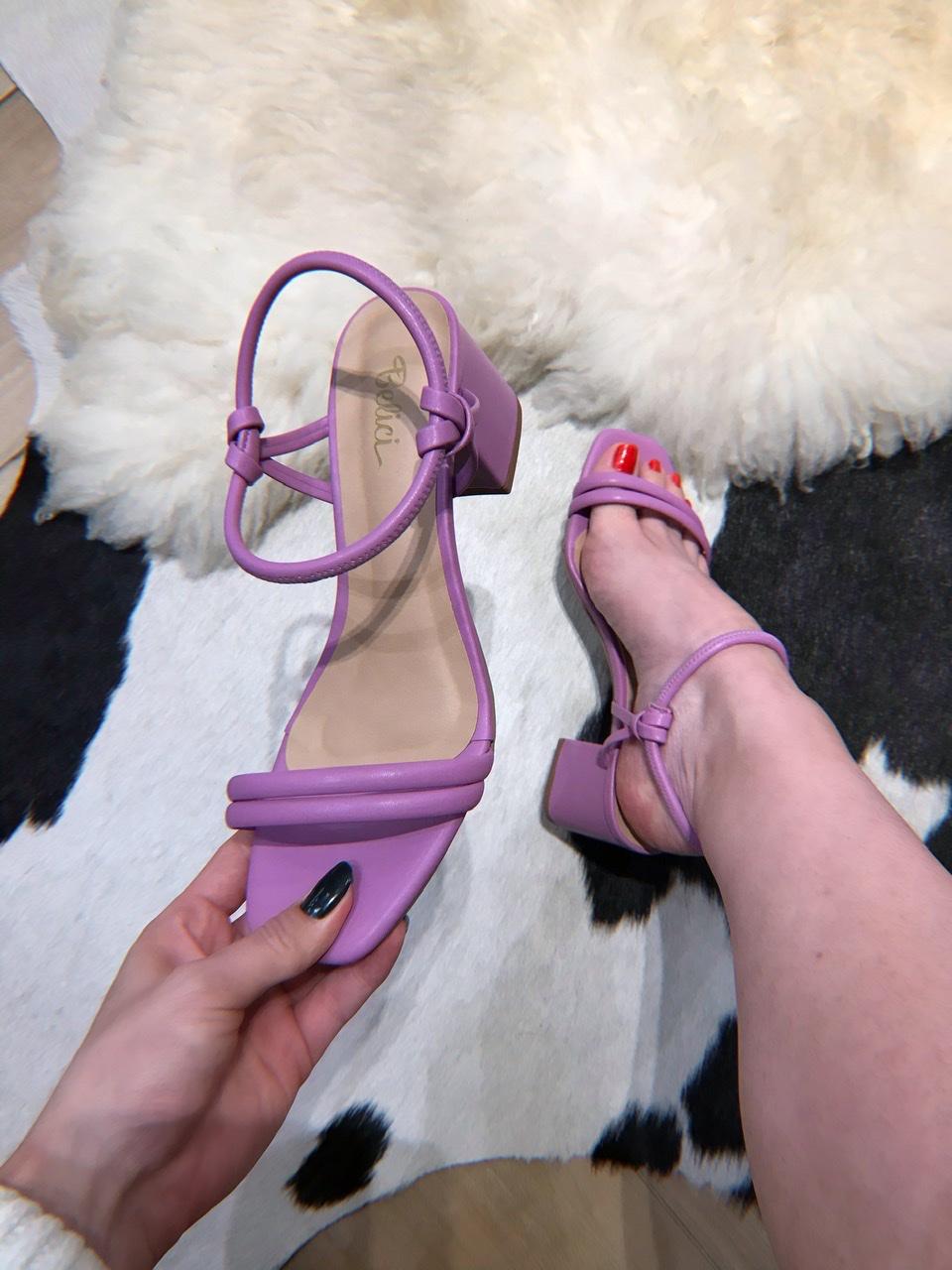 Sandália Lalá Lavanda 6cm