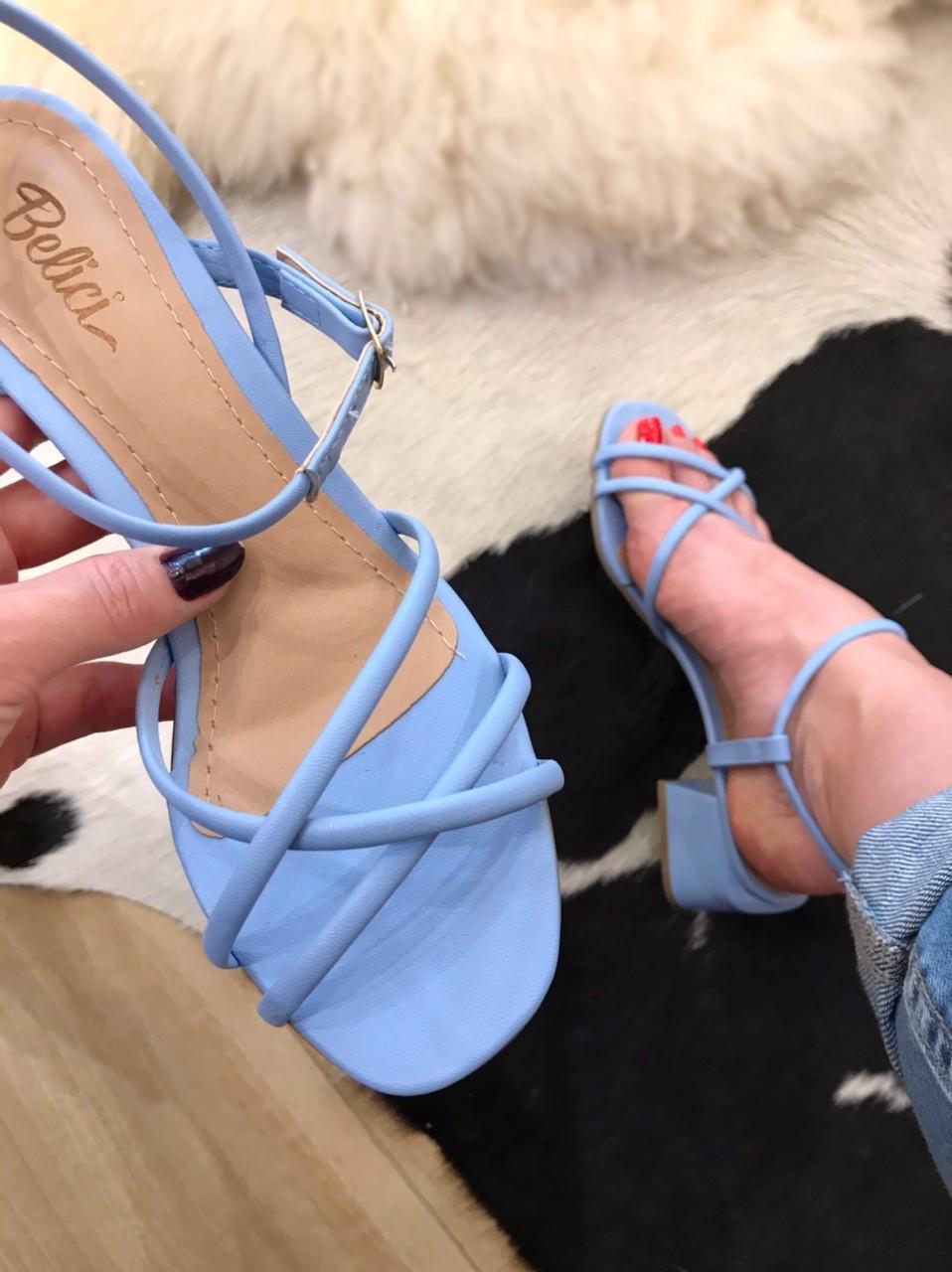 Sandália Lolla Azul Aqua