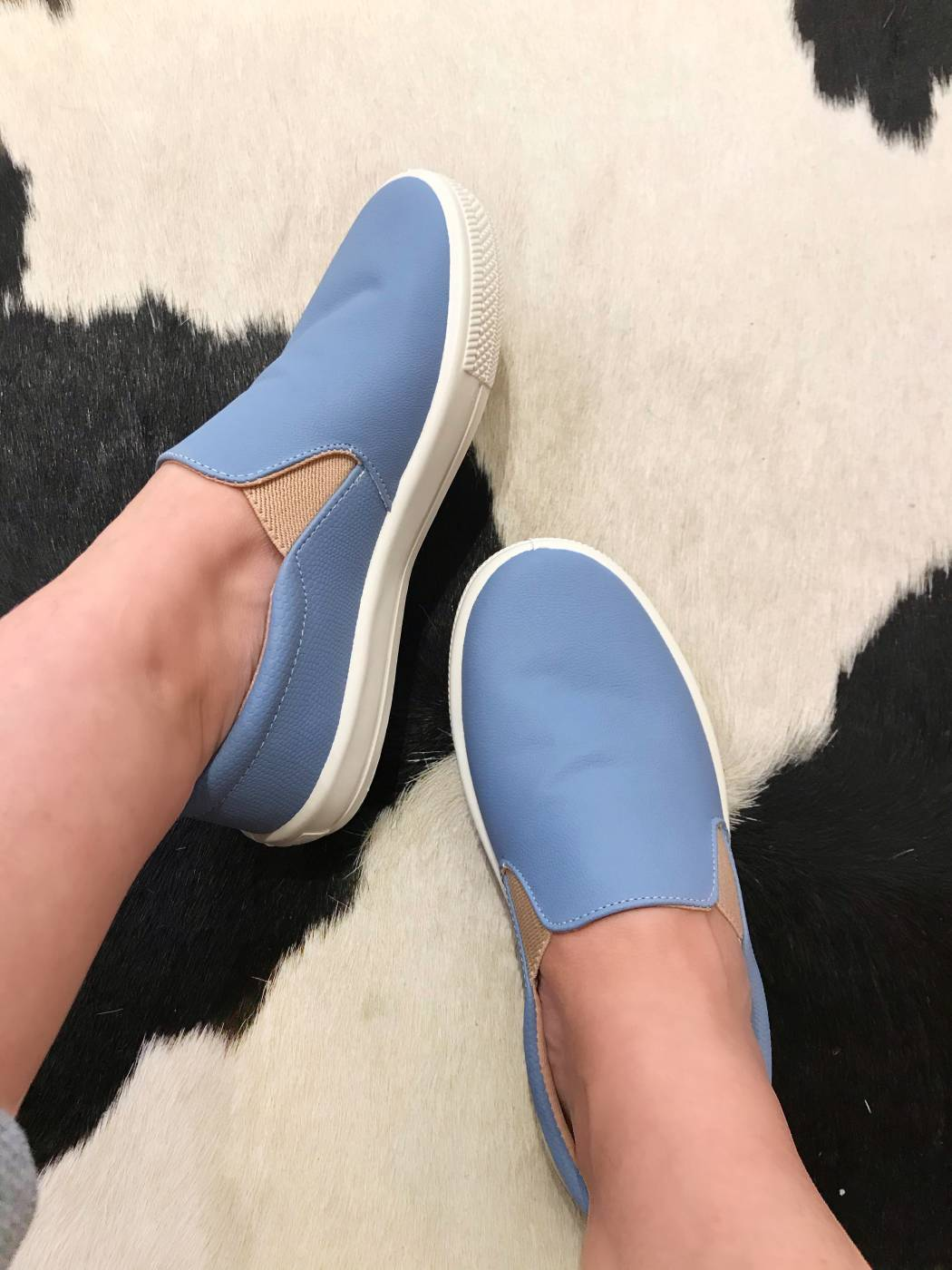 Slip On Belici Essencial Azul Pastel