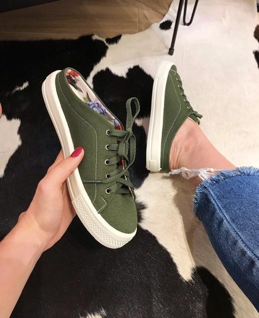Tênis Mule Belici Essencial Verde