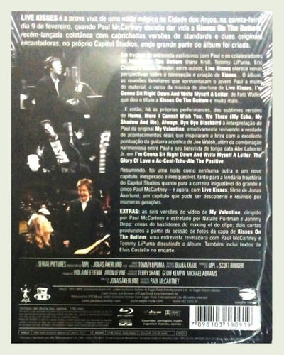 Paul Mccartney Live Kisses Blu Ray