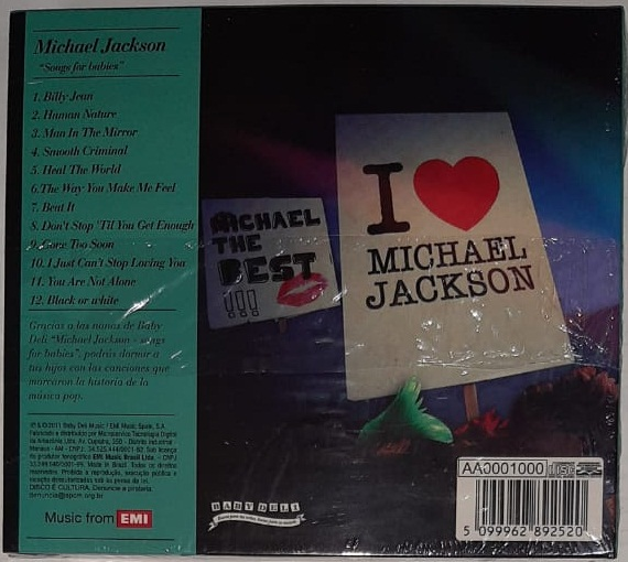 Baby Deli Music Michael Jackson Songs For Babies CD