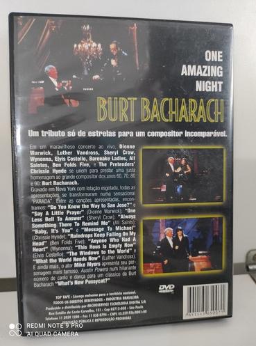 Burt Bacharach One Amazing Nght DVD