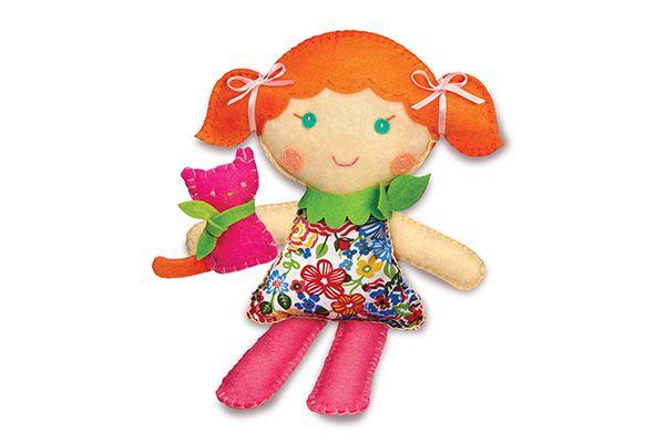 Costure uma boneca e um Gatinho de estimaçao  4M