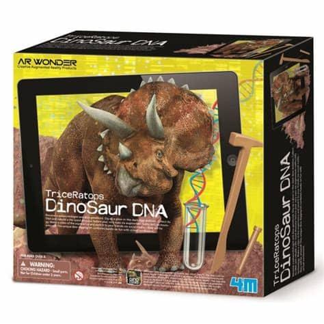 Dinossauro Tricerátopo Dinosaur DNA    Brinquedo 4M