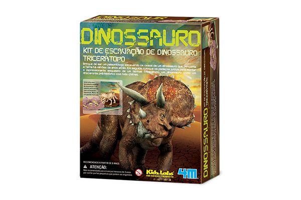 Kit de escavação de dinossauro Tricerátopo   4M