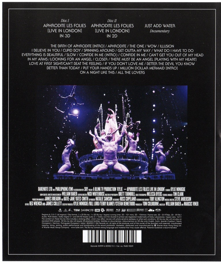 Kylie Aphrodite Les Folies Live in London   DVD e CDs