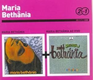 Maria Bethania 2 por 1 Maria Bethania e Maria Bethania Ao Vivo CD Digipack Duplo