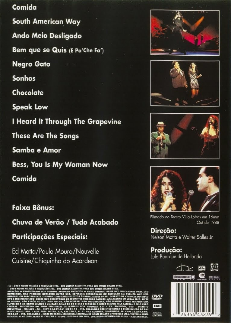 Marisa Monte Ao vivo    DVD