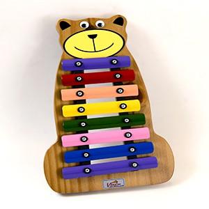 Metalofone Urso Colorido Jog Music