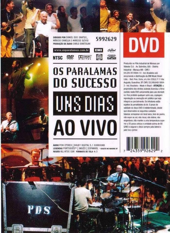 Os Paralamas do Sucesso Uns Dias Ao vivo   DVD