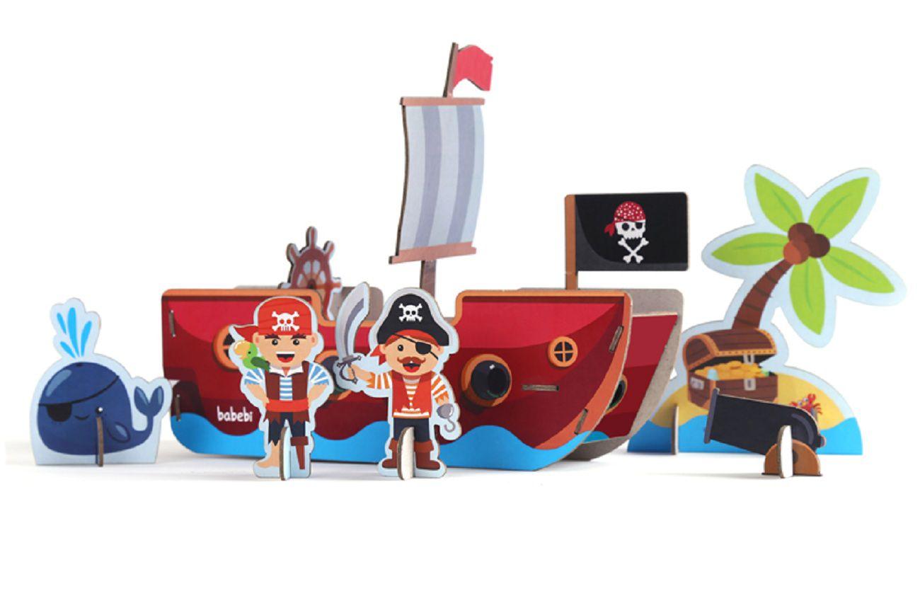 Quebra Cabeça 3D Piratas