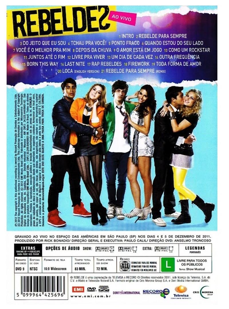 Rebeldes Ao vivo   DVD