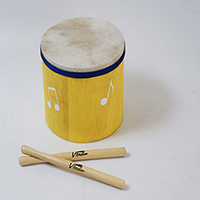 Surdinho de madeira infantil Vibratom Amarelo