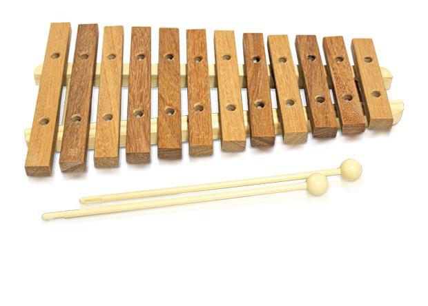 Xilofone Infantil Vibratom 12 teclas Natural