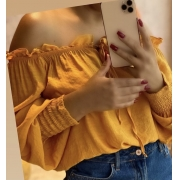 Blusa cropped ciganinha