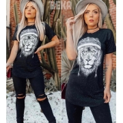 Camiseta Long Leão