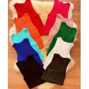 Cropped de tricot liso- tamanho único