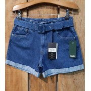 Shorts Boyfriend com cinto jeans
