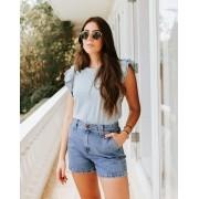 Shorts jeans com bolso